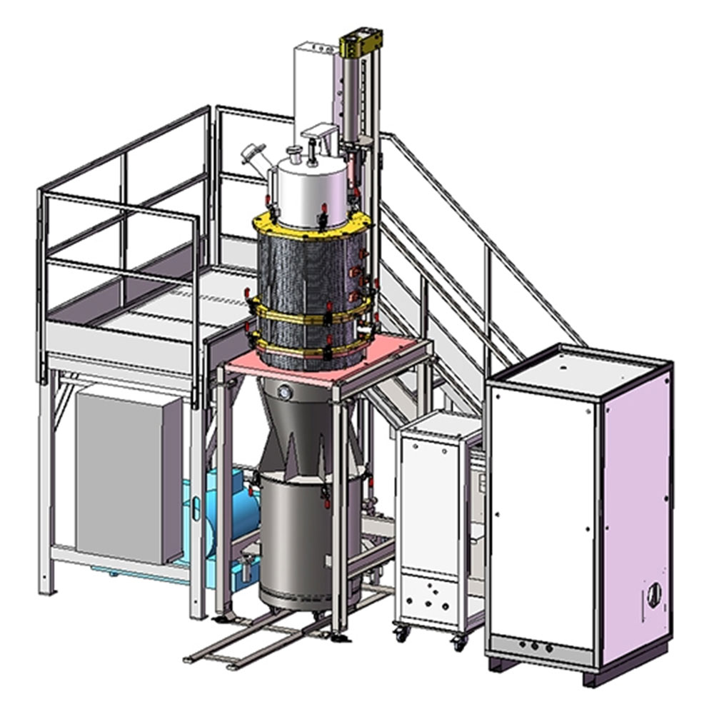 3D Rendering - Atomization Plant for Metal Alloys